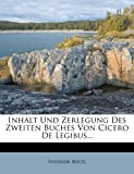Inhalt und Zerlegung des Zweiten Buches Von Cicero de Legibus..., Theodor Bögel, 1273298845