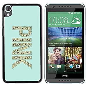 Impact Case Cover with Art Pattern Designs FOR HTC Desire 820 Pink Gold Glitter Bling Mint Green Betty shop