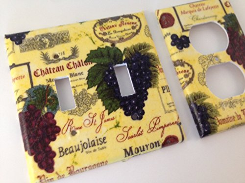 French Wine Grapes Light Switch Covers - All Sizes Offered