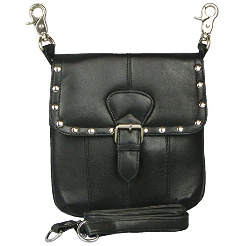 - Texcyngoods Leather HIP Waist Bag Cross Body Purse Studs Buckle
