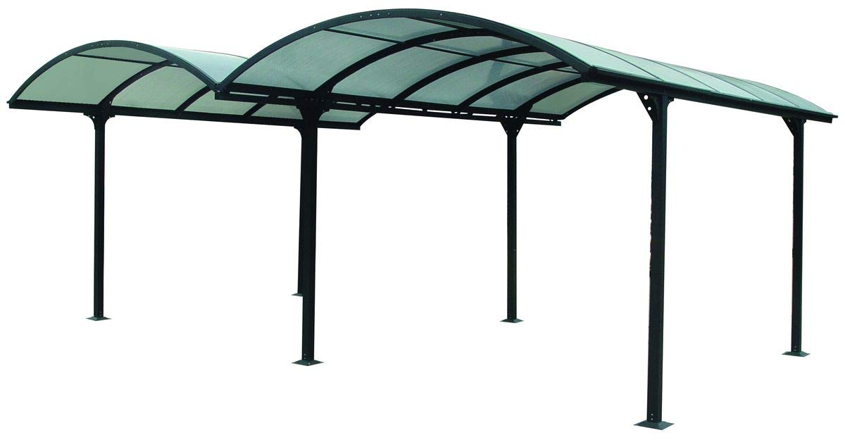 Habrita - HABRITA - Carport ALUMINIUM double toit demi-rond Foresta