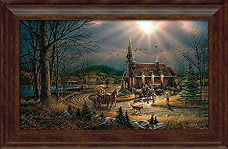 Amazon Com Wild Wings God Shed His Grace On Thee Framed Encore Canvas By Terry Redlin Posters Prints