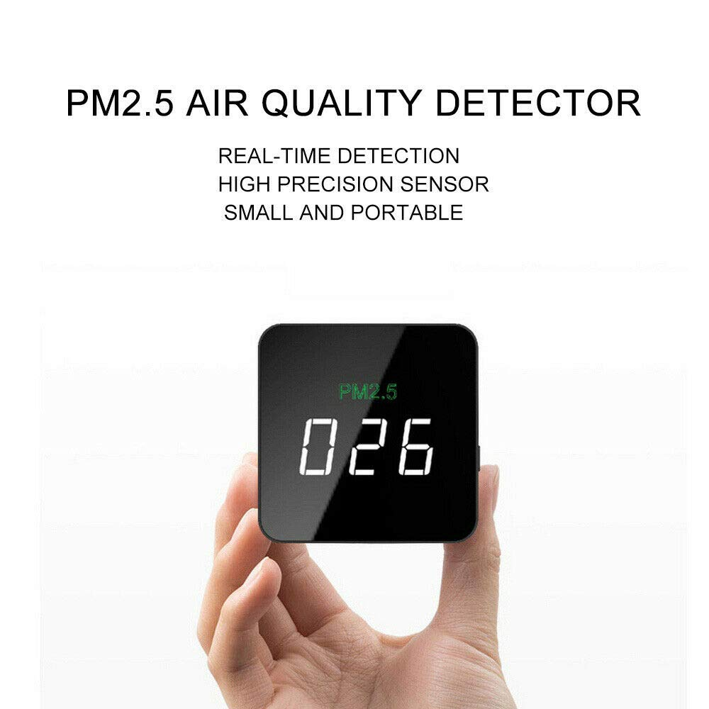 Mini PM2.5 Detector Air Quality Real-time Monitor Rechargeable Particulate Matter Tester SY200 for Home Indoor Office