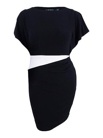 e1e170e9b8f Image Unavailable. Image not available for. Color  Lauren Ralph Lauren  Women s Slit Flutter Sleeve Jersey Dress (2