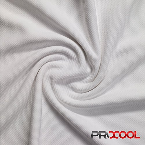 (ProCool Athletic Jersey Mesh (Made in USA, White, sold by the yard))