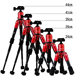 Bestshoot Desktop Mini Tripod Ultra Compact Portable Aluminum Alloy Delux Folding Complete Set with Ball Head for DLSR SLR Camera Canon Nikon Sony Action Camera Gopro Hero Camcorder iPhone Samsung HTC