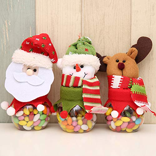 HEART SPEAKER Christmas Snowman Santa Reindeer Candy Box Jar Biscuit Sweetie Container Party Decor 5# by HEART SPEAKER (Image #5)