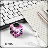 Fidget Toy Cube Purple Camo Relieves Anxiety and Stress for Kids and Adults - Comes with Case