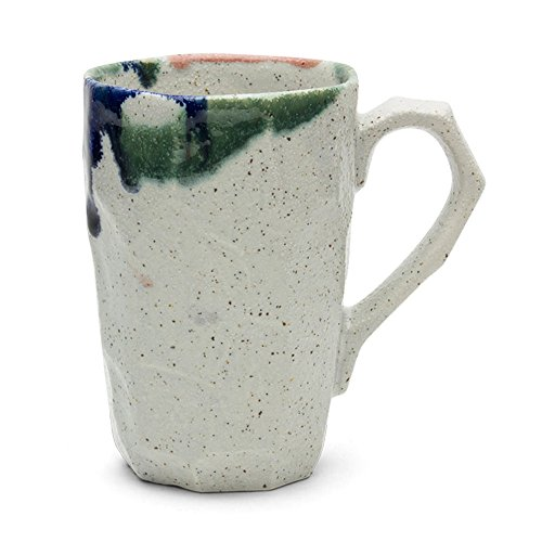 Unique Japanese Design 12 Oz. Boulder Tall Mug - White
