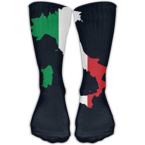 Crew Italian (Italia Italy Italian Map Novelty Crew Socks For Men & Women Stockings For Sport, Daily Wear)