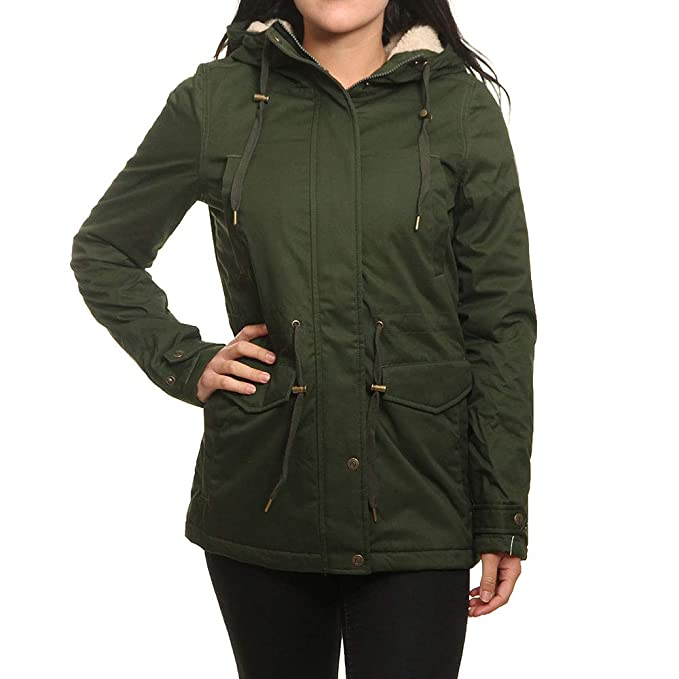 75f3b5c9d9635 ELEMENT Parka Mujer Misty Twill Verde  Amazon.es  Ropa y accesorios