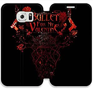 Personality Design Bullet For My Valentine-17 iPhone Samsung Galaxy S6 Edge Leather Flip Case