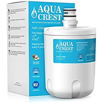 AQUACREST LT500P Replacement for LG LT500P, 5231JA2002A, ADQ72910907, ADQ72910901, Kenmore 9890, 46-9890, 469890 Refrigerator Water Filter