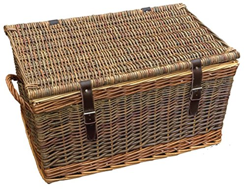 53cm Double Steamed Green Willow Cromford Storage Basket by Red Hamper
