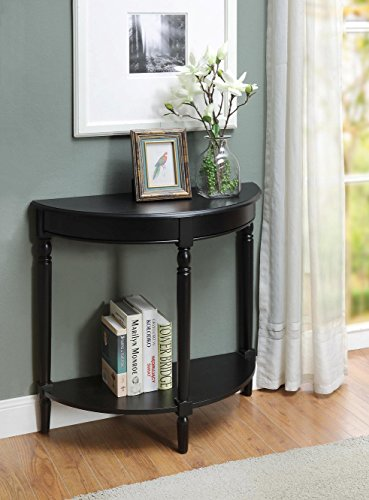 Convenience Concepts French Country Entryway Table, Black