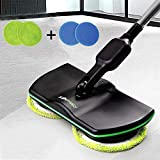 Electric Spinning Mop Cordless, Household Cleaning Mop Rechargeable,Handheld Spin Maid Floor Cleaner, Powered Scrubber Polisher Mop Carpet Tile Sweeper for Living Room Bedroom Dining Room,Black