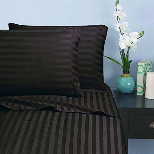Elegant Comfort 1500 Thread Count -DAMAS - Brown Damask Gift Shopping Results