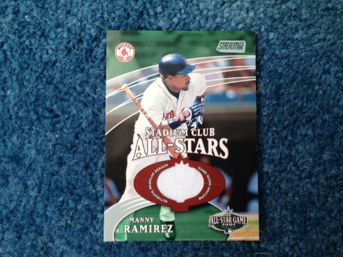 (2001 Topps Stadium Club Manny Ramirez Game Worn Jersey Card