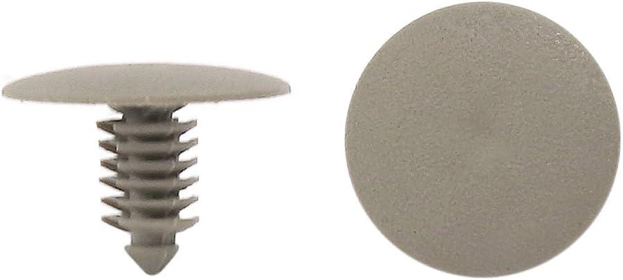 sourcingmap 50pcs Universal Gris plástico Empuje tipo Sujetadores Clip Remache 7mm Agujero Dia para coche: Amazon.es: Coche y moto