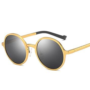 RAQ Gafas de Sol Redondas Gafas de Sol Retro Hombres Lente ...