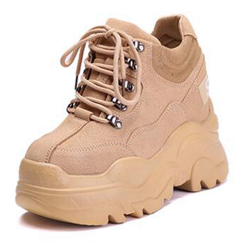 Frau Turnschuhe Mode Hohe Plattform Schuhe Mädchen Höhe Zunehmende Dicke Sohle Schuhe damen Atmungsaktiv Tägliche Wanderschuhe