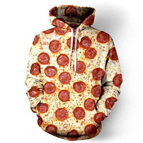 XMiniLife New Digital Print Space Hoodie Sweatshirt,Pizza (26 Waist Length Jacket)