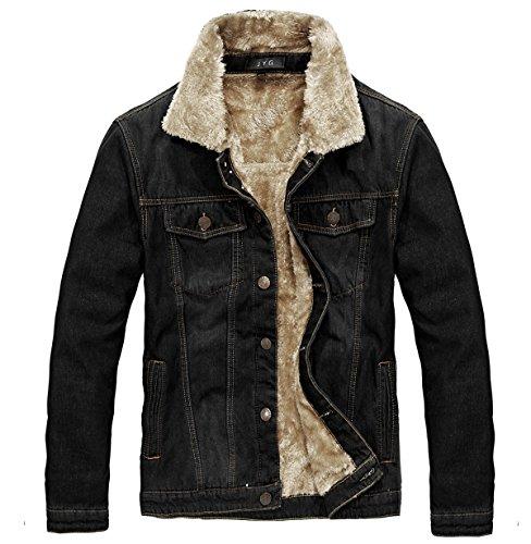 Lined Denim Jacket - 4