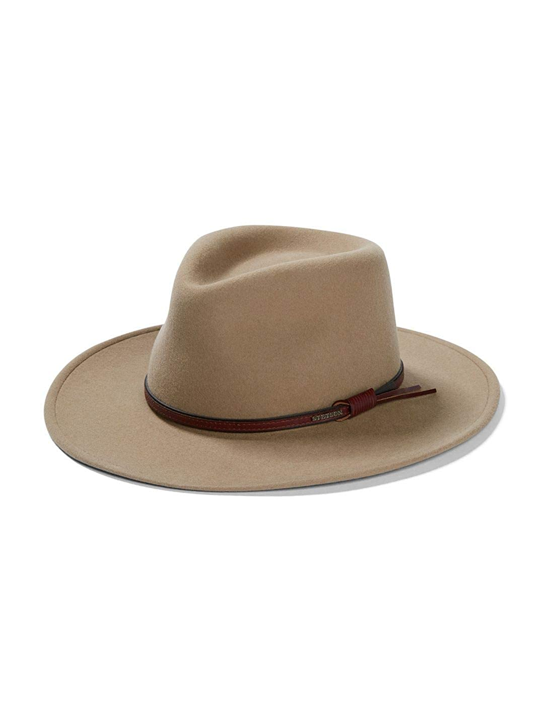 Mushroom Stetson Bozeman Crushable Outdoor Wool Felt Hat
