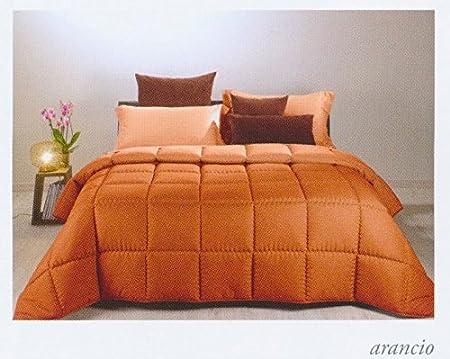 Caleffi Trapunta Matrimoniale Invernale 260x265 Cm Microfibra Arancio Modern Amazon It Casa E Cucina