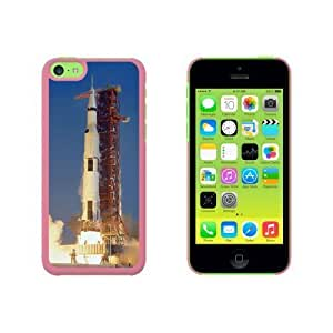 Apollo 11 Launch - USA Space Program Snap On Hard Protective For SamSung Galaxy S5 Phone Case Cover - Pink