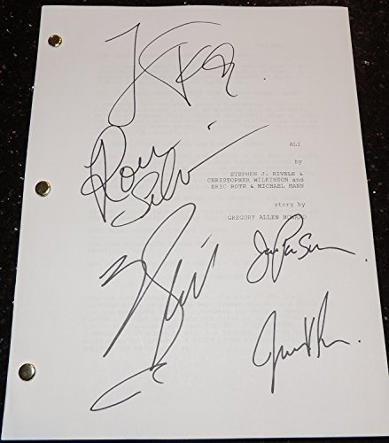 ALI Autographed - Hand Signed Full Script by Will Smith, Jada Pinkett Smith, Jamie Foxx, Ron Silver, and Mario Van Peebles