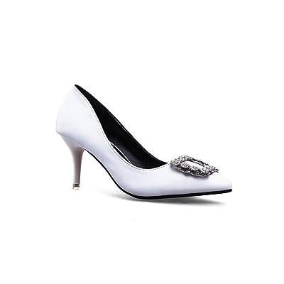 AdeeSu Womens Rhinestones No-Closure Low-Cut Uppers Urethane Pumps Shoes