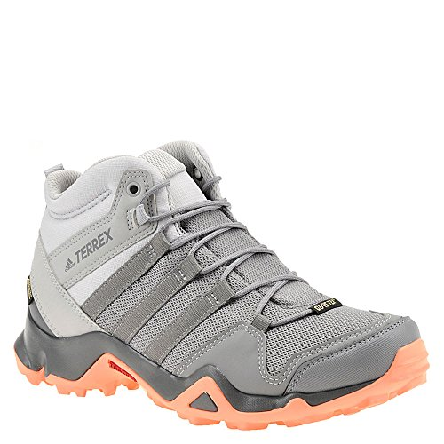 adidas outdoor Terrex AX2R Mid GTX Hiking Boot - Women's Grey Two/Grey Three/Chalk Coral, 9.0 by adidas outdoor