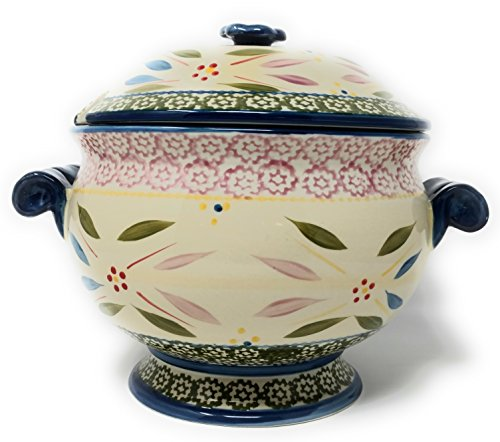 Temp-tations 3qt Soup Tureen with Lid, Stoneware (Old World Confetti)