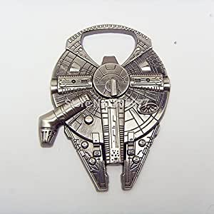 "Star Wars Millenium Falcon Metal Bottle Opener Zinc Alloy - Non-magnetic Opener 2.4"" Version"