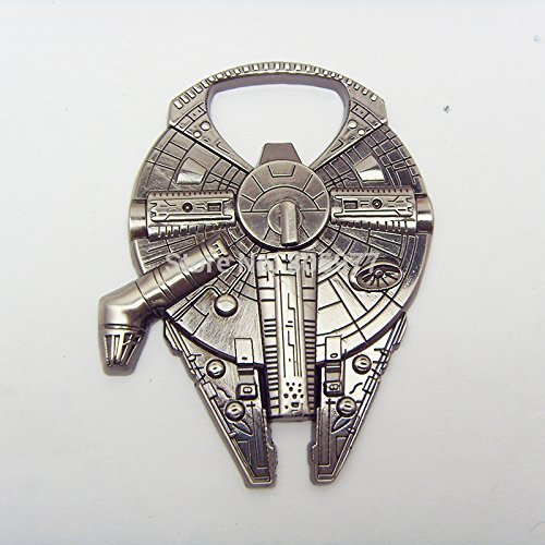 Star Wars Millenium Falcon Metal Bottle Opener Zinc Alloy - Non-magnetic Opener 2.4' Version