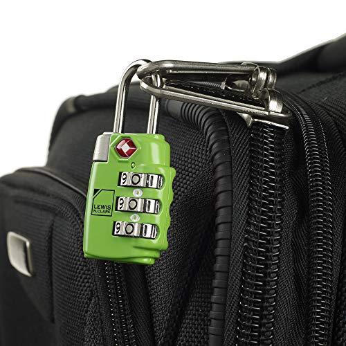 tsa compliant combination luggage lock
