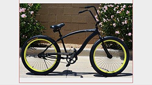 Ape Hanger Cruiser - Colby Cruisers Duke 3.0 Fat Tire Big Wheel Bicycle (Grey)