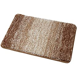 Famibay Bathroom Mat, Non Slip Bath Mat and Rug for Bathroom Microfiber Super Soft and Absorbent Bathroom Rug Machine Washable 20x32 inch, Tan