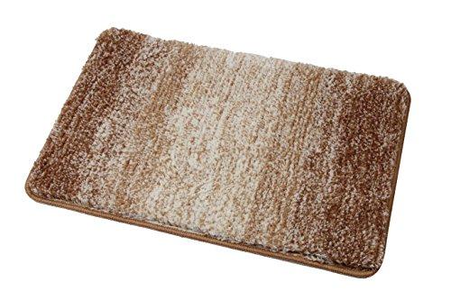 Famibay Bath Mats, Microfiber No Slip Bath Mats For Bathroom Machine Washable Absorbent Bathroom Rugs(16 x 24 inch,Tan)