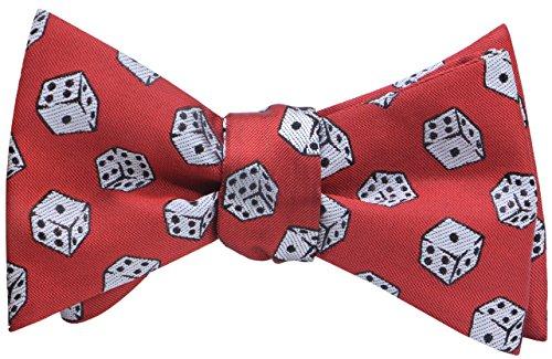 OCIA Mens Designer Self Bow Tie Pattern Woven Bowtie Dice - (Dice Tie)