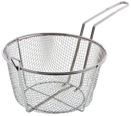 Update International FB-9 Nickel Plated Round Wire Fry Basket, 9-1/2-Inch,Set of 4