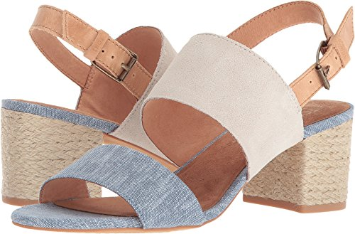 TOMS Women's The Poppy Slingback Sandal Birch Suede/Blue