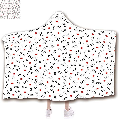 - Wearable Hooded Blanket with Thicken Soft Plush and 3D Printed Pattern Suit for Kids(51