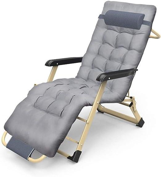Mueble de jardín/Cómodas sillas reclinables for Patio Silla con tumbonas Plegable y Ajustable de jardín al Aire Libre con reposabrazos Soporte Silla for Acampar Ligera de 200 kg (Color: Gris): Amazon.es: Jardín