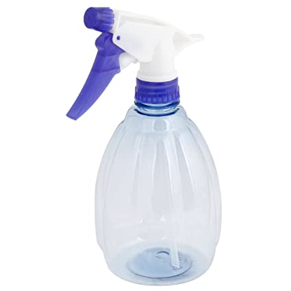 sourcingmap Portátil Broche Plástico Spray De Agua Aspersor Botella Blanco Azul 400ML
