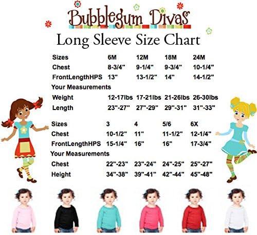 Bubblegum Divas Little Girls Jingle Bells Holiday Christmas Long Sleeve Shirt