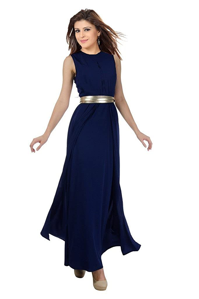d27999c68c157c ishin Women's Georgette Maxi Dress (Navy Blue, XXL): Amazon.in: Clothing &  Accessories