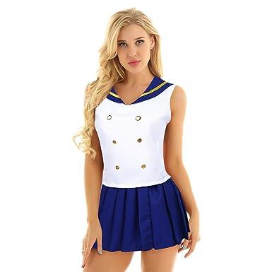 caractéristiques exceptionnelles plutôt cool original de premier ordre YOOJIA Femme Déguisement Uniforme Ecolière Marin Costume ...