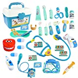 WTOR Toys 36PCS Medical Kits Pretend Play Doctor Toy Dentist Play Doctor Set